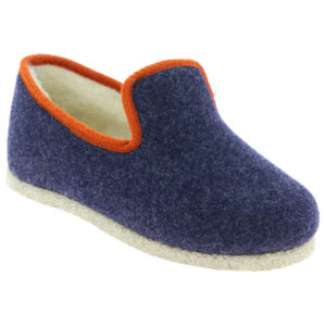 Charentaise Tweed Marine/Orange