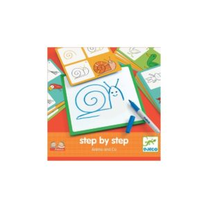 Apprendre à dessiner Step by step Animals and Co - Djeco
