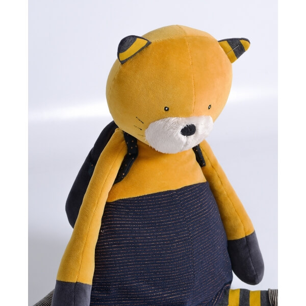 Peluche géante chat moutarde Lulu